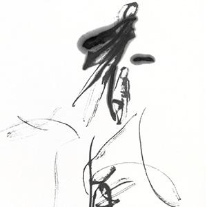 #8:連合展85cm×176cm:祐天寺の書道教室「蒼書芸院」竹内久晶・主宰